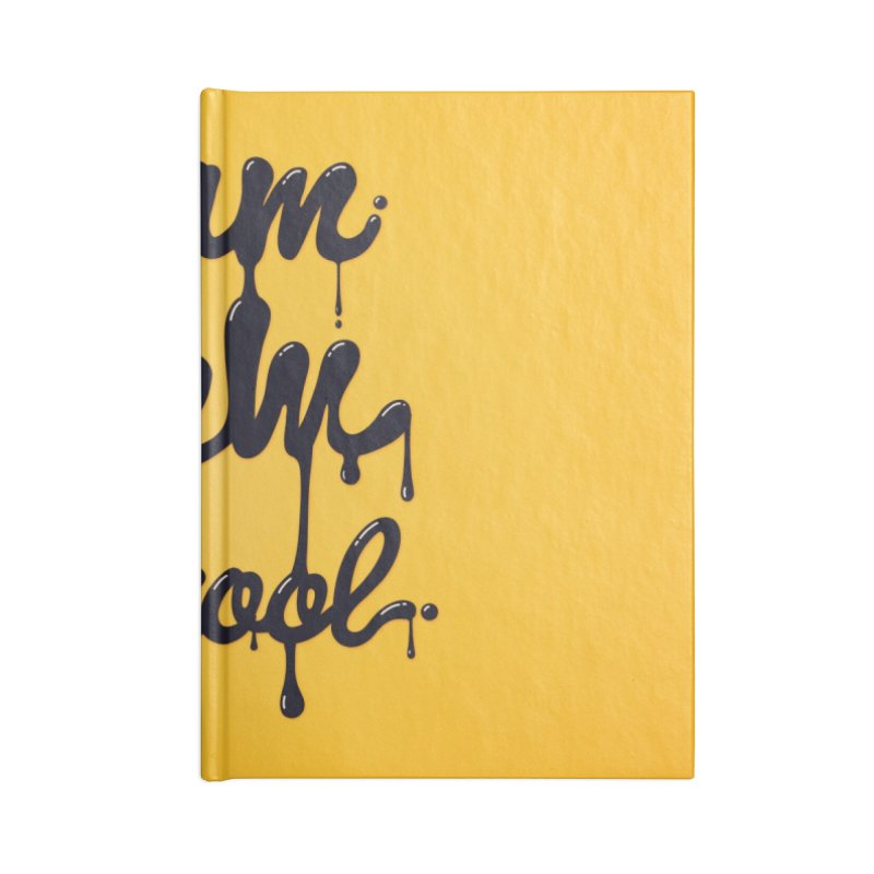 I am new school! Oil Typography Accessories Notebook by Badbugs's Artist Shop