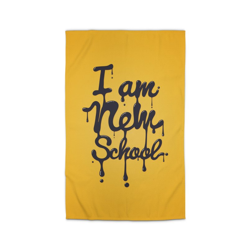 I am new school! Oil Typography Home Rug by Badbugs's Artist Shop