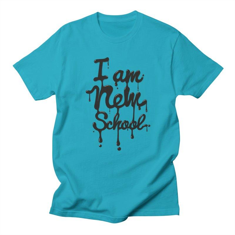 I am new school! Oil Typography Men's T-Shirt by Badbugs's Artist Shop