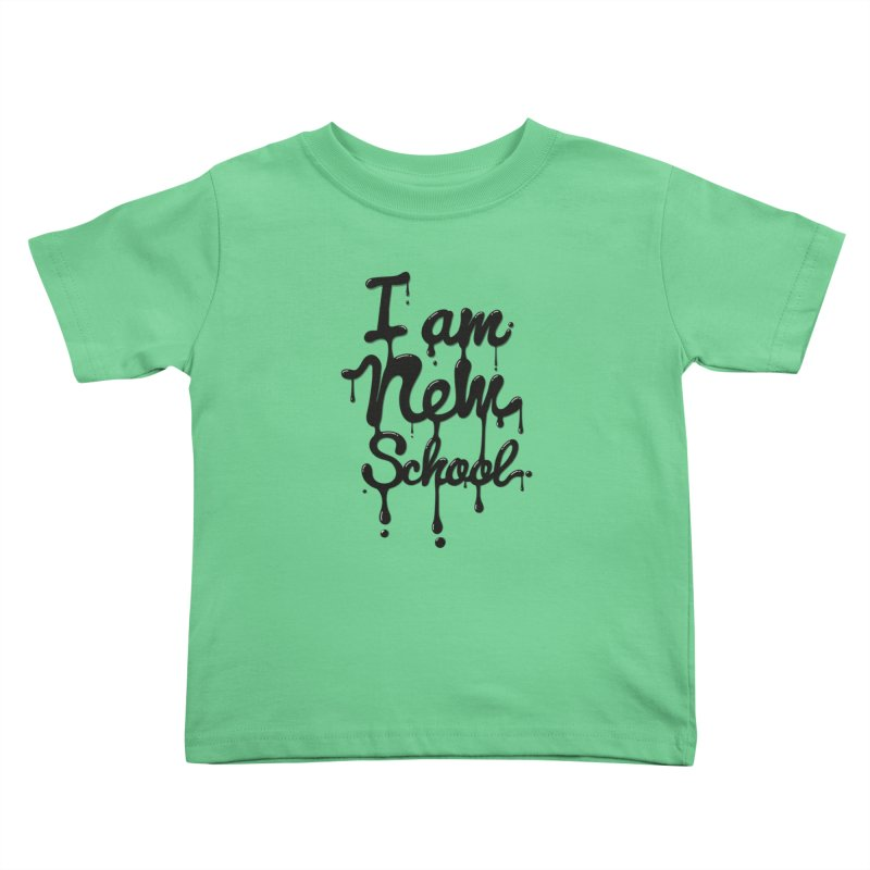 I am new school! Oil Typography Kids Toddler T-Shirt by Badbugs's Artist Shop