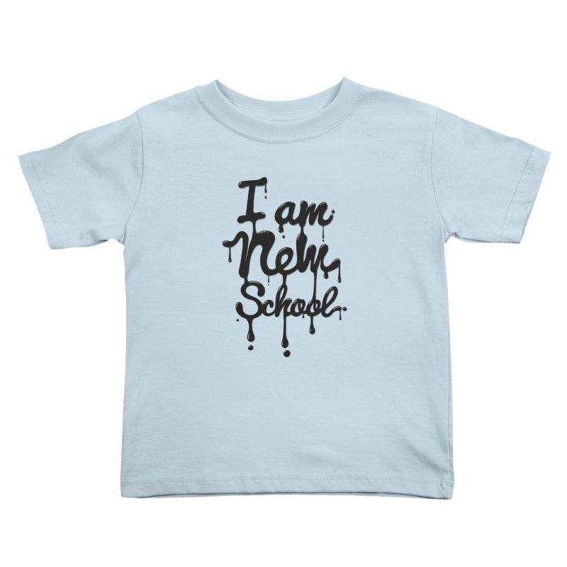 I am new school! Oil Typography Kids Toddler T-Shirt by Badbugs's Artist Shop