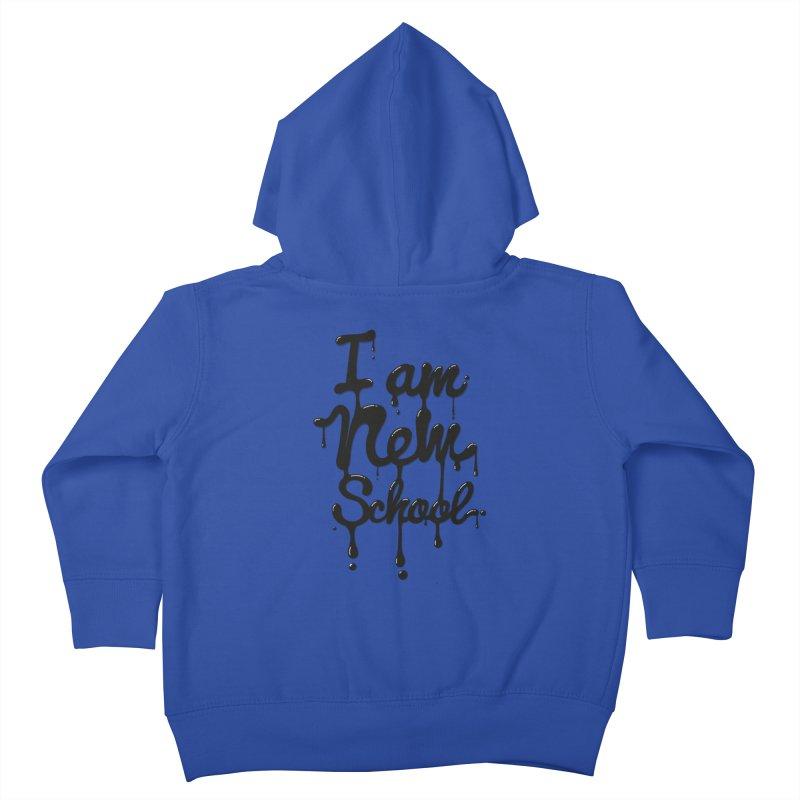 I am new school! Oil Typography Kids Toddler Zip-Up Hoody by Badbugs's Artist Shop