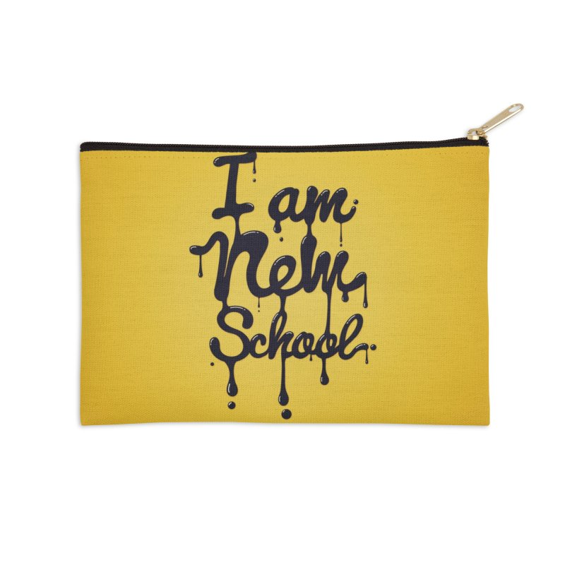 I am new school! Oil Typography Accessories Zip Pouch by Badbugs's Artist Shop