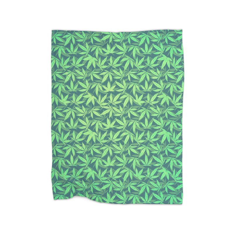 Cannabis / Hemp / 420 / Marijuana  - Pattern Home Blanket by Badbugs's Artist Shop