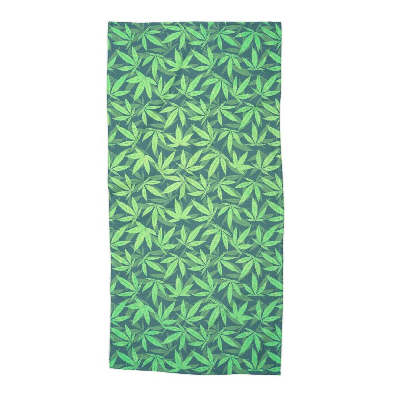 Cannabis / Hemp / 420 / Marijuana  - Pattern Accessories Beach Towel by Badbugs's Artist Shop