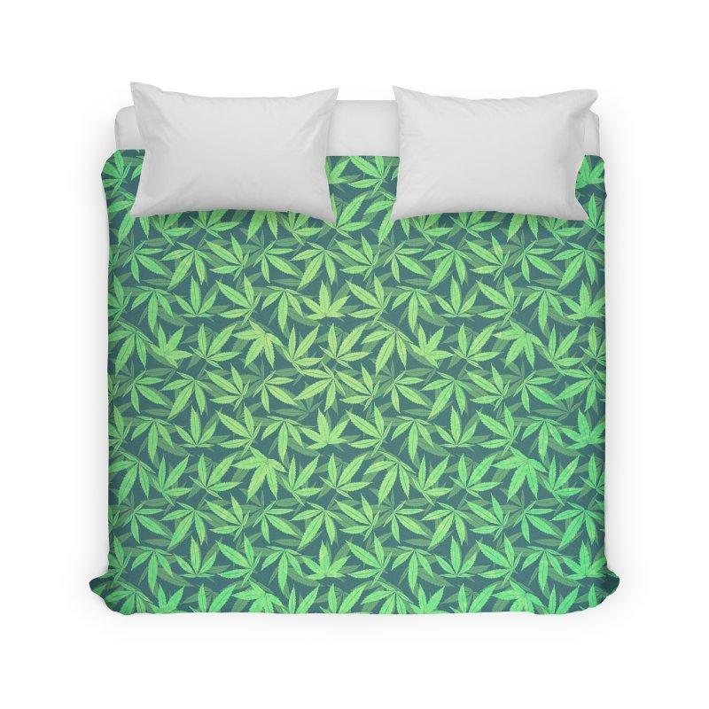 Cannabis / Hemp / 420 / Marijuana  - Pattern Home  by Badbugs's Artist Shop