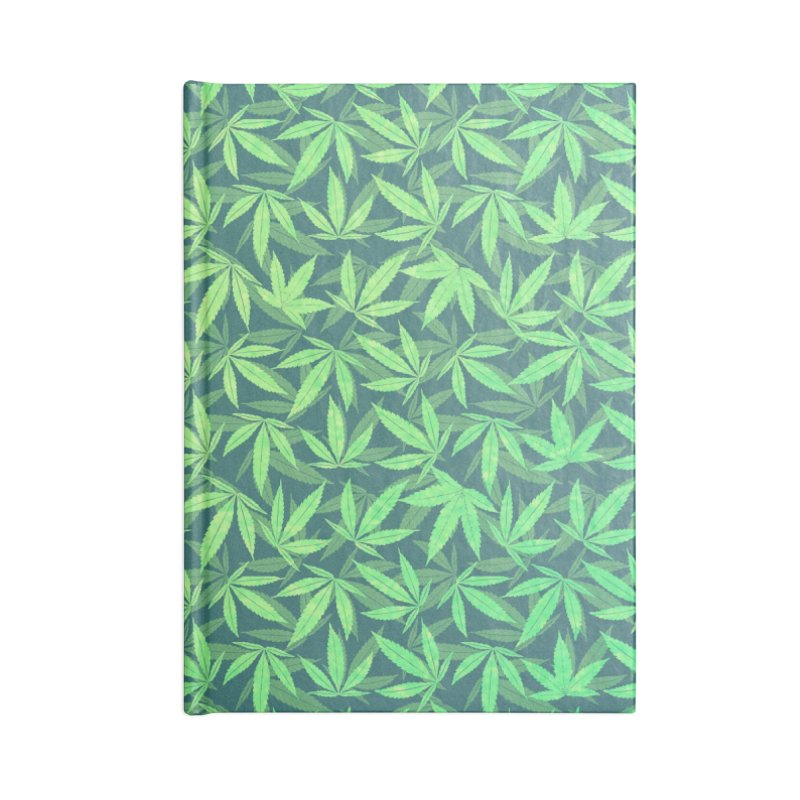 Cannabis / Hemp / 420 / Marijuana  - Pattern Accessories Notebook by Badbugs's Artist Shop