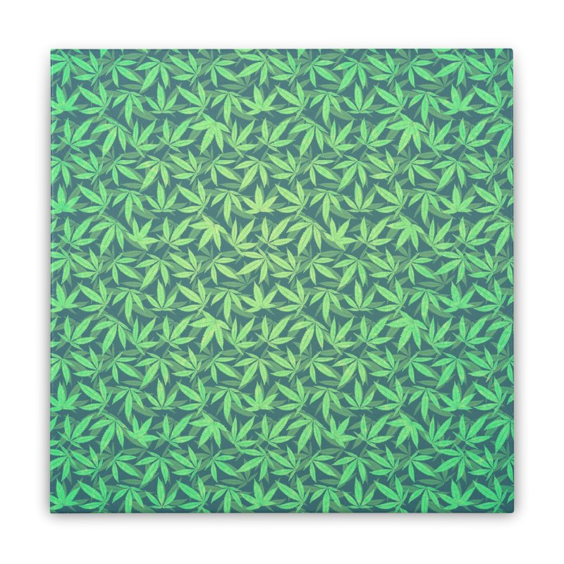 Cannabis / Hemp / 420 / Marijuana  - Pattern Home Stretched Canvas by Badbugs's Artist Shop