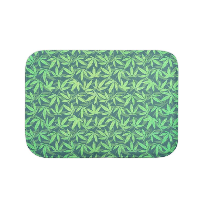Cannabis / Hemp / 420 / Marijuana  - Pattern Home Bath Mat by Badbugs's Artist Shop