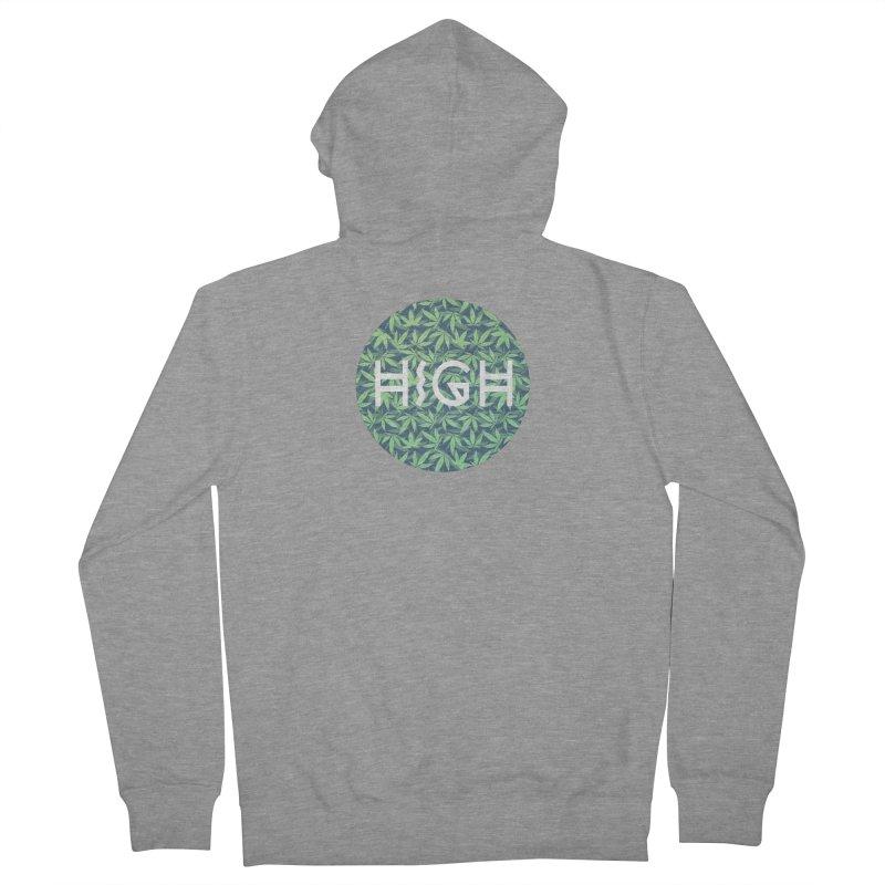 Cannabis / Hemp / 420 / Marijuana  - Pattern Men's Zip-Up Hoody by Badbugs's Artist Shop