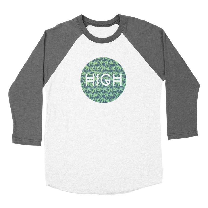 Cannabis / Hemp / 420 / Marijuana  - Pattern Women's Baseball Triblend T-Shirt by Badbugs's Artist Shop