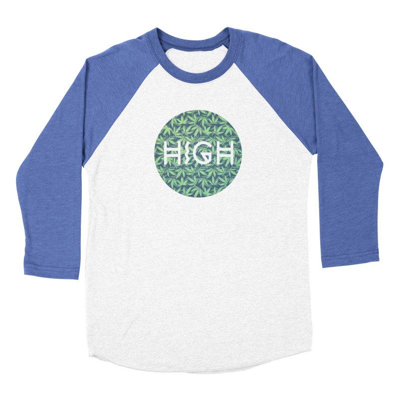 Cannabis / Hemp / 420 / Marijuana  - Pattern Men's Baseball Triblend T-Shirt by Badbugs's Artist Shop