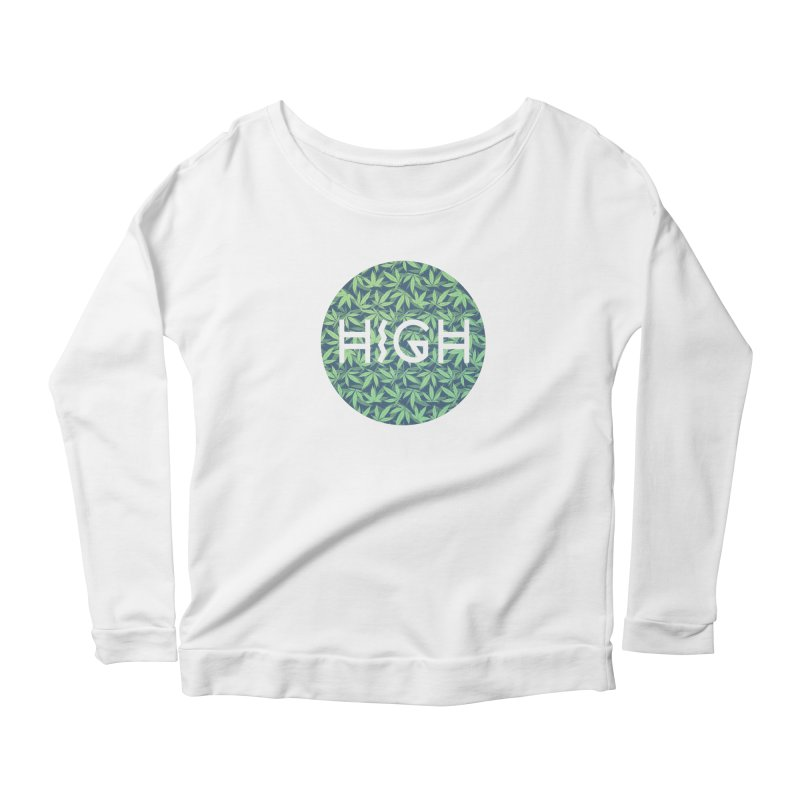 Cannabis / Hemp / 420 / Marijuana  - Pattern Women's Longsleeve Scoopneck  by Badbugs's Artist Shop
