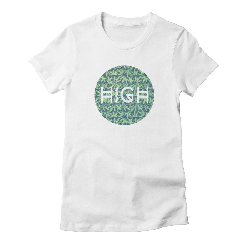 Cannabis / Hemp / 420 / Marijuana  - Pattern Women's Fitted T-Shirt by Badbugs's Artist Shop