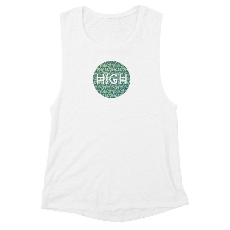Cannabis / Hemp / 420 / Marijuana  - Pattern Women's Muscle Tank by Badbugs's Artist Shop