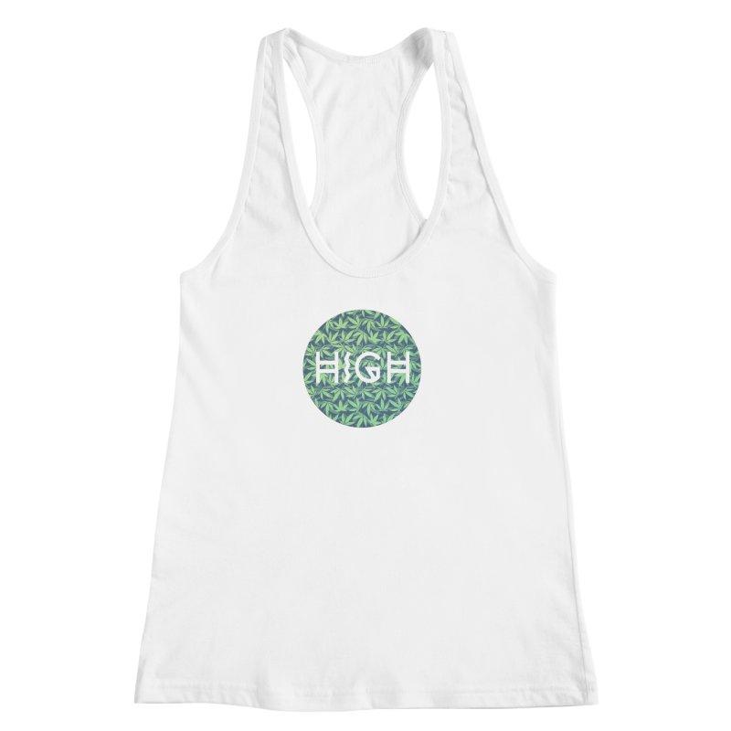 Cannabis / Hemp / 420 / Marijuana  - Pattern Women's Racerback Tank by Badbugs's Artist Shop