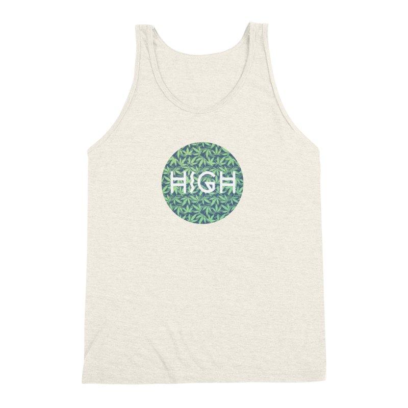Cannabis / Hemp / 420 / Marijuana  - Pattern Men's Triblend Tank by Badbugs's Artist Shop