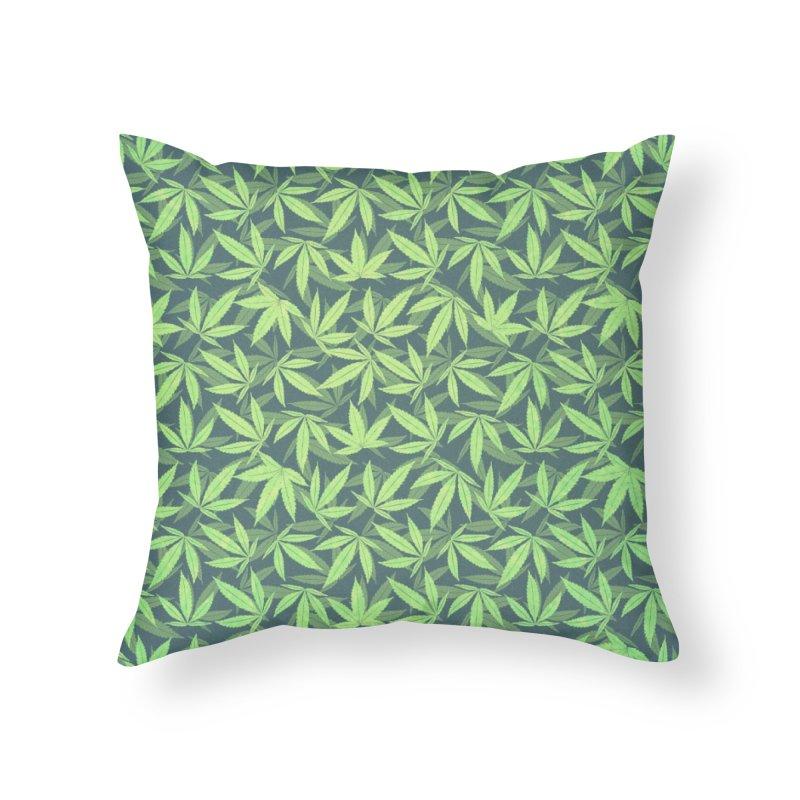 Cannabis / Hemp / 420 / Marijuana  - Pattern Home Throw Pillow by Badbugs's Artist Shop