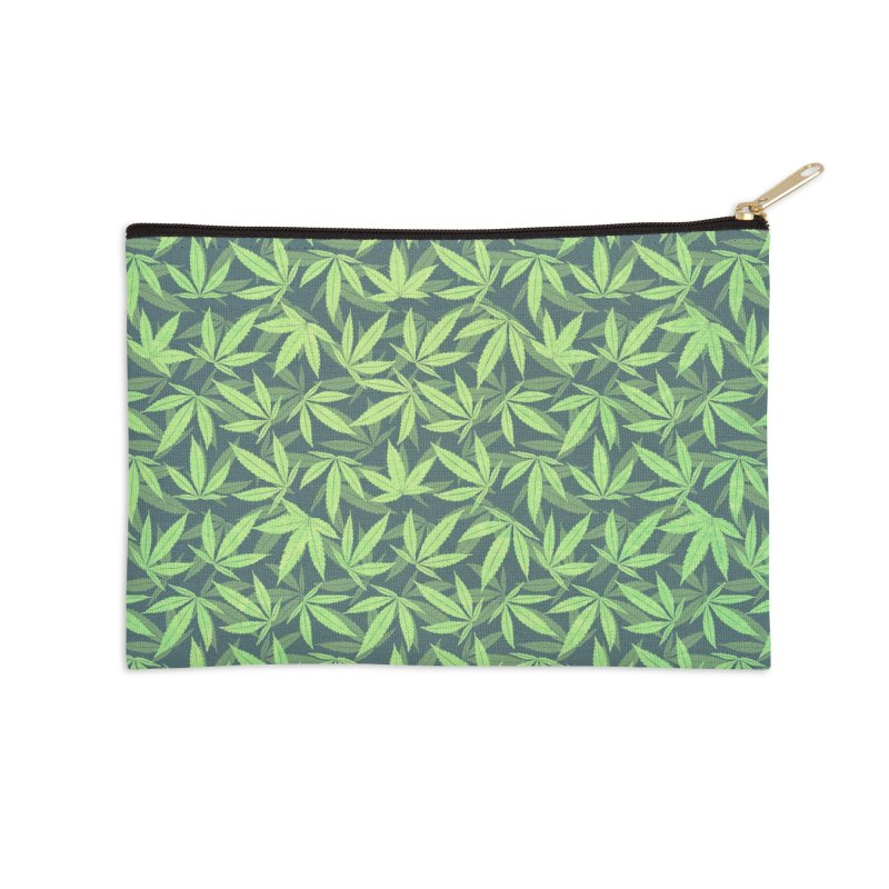 Cannabis / Hemp / 420 / Marijuana  - Pattern Accessories Zip Pouch by Badbugs's Artist Shop