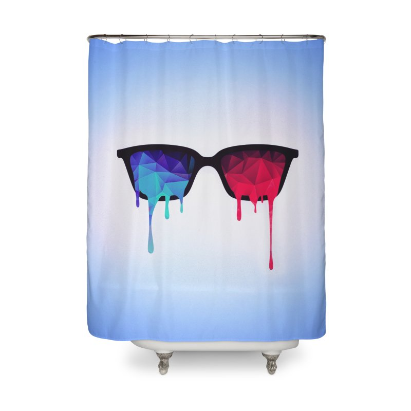 3D Psychedelic / Goa Meditation Glasses Home Shower Curtain by Badbugs's Artist Shop
