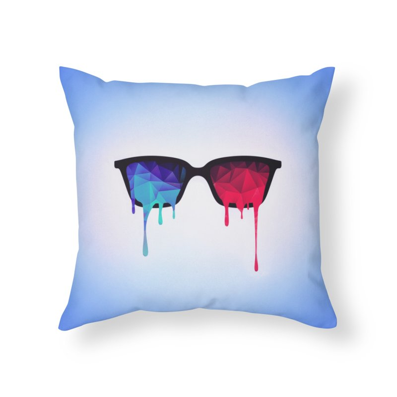 3D Psychedelic / Goa Meditation Glasses Home Throw Pillow by Badbugs's Artist Shop