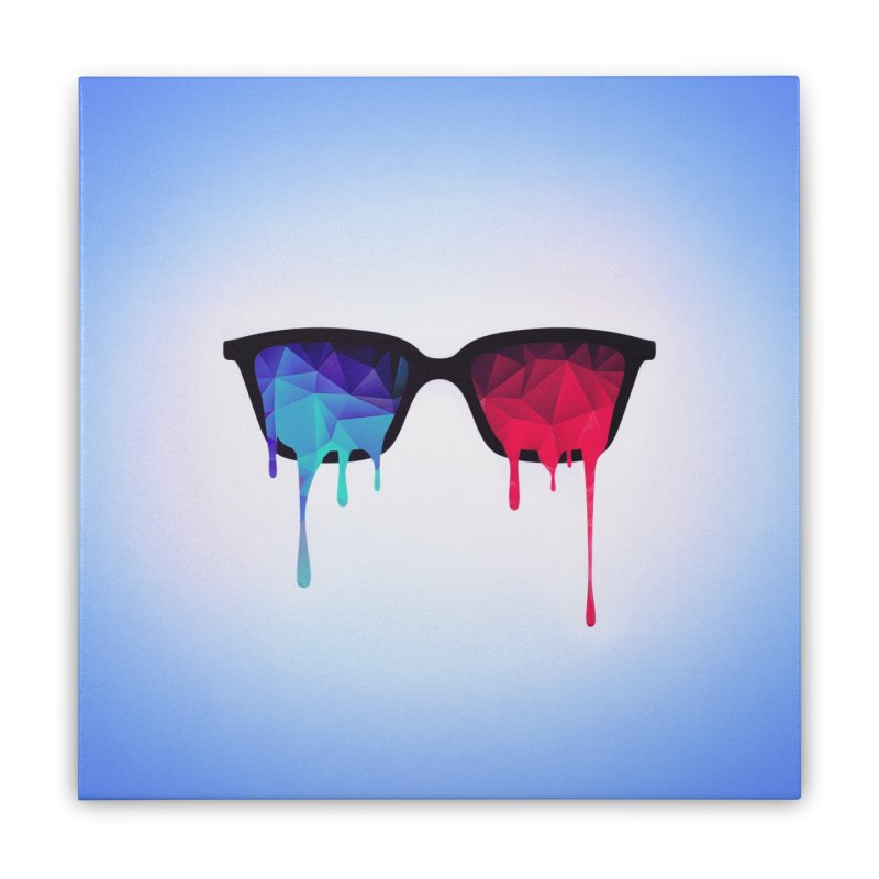 3D Psychedelic / Goa Meditation Glasses Home Stretched Canvas by Badbugs's Artist Shop