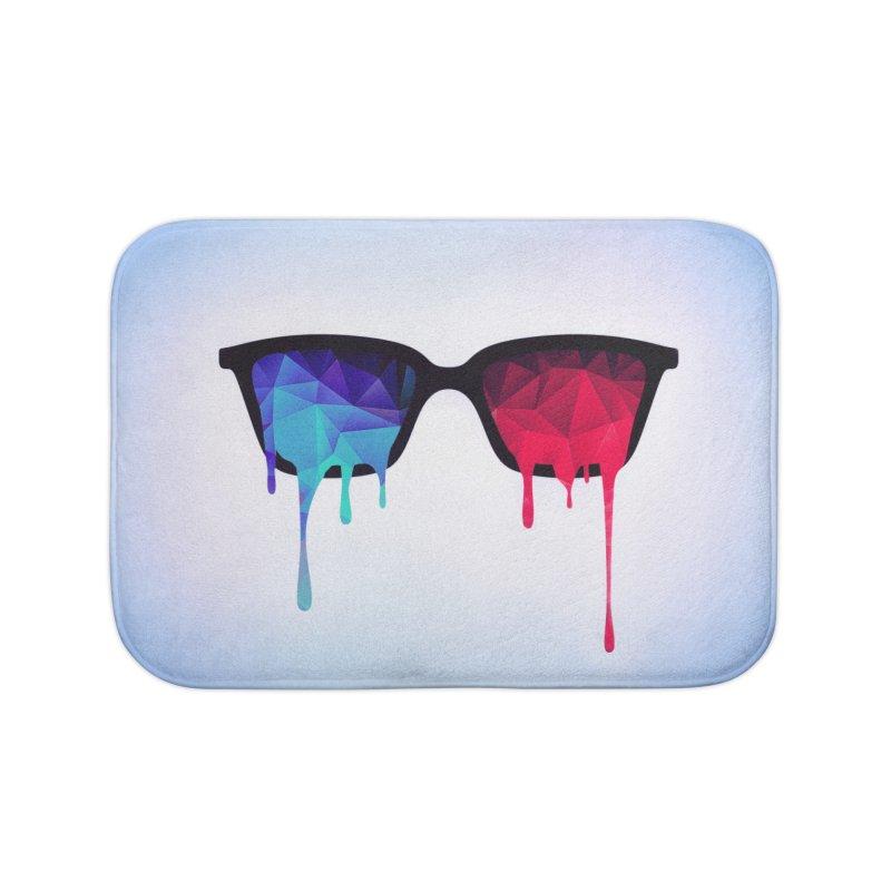 3D Psychedelic / Goa Meditation Glasses Home Bath Mat by Badbugs's Artist Shop