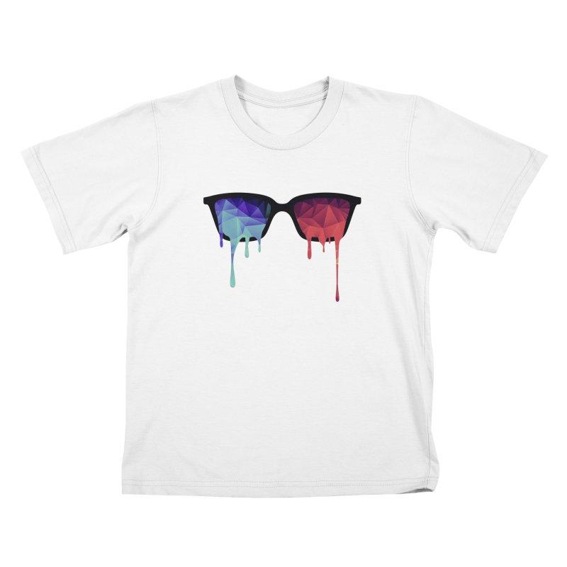 3D Psychedelic / Goa Meditation Glasses Kids T-Shirt by Badbugs's Artist Shop