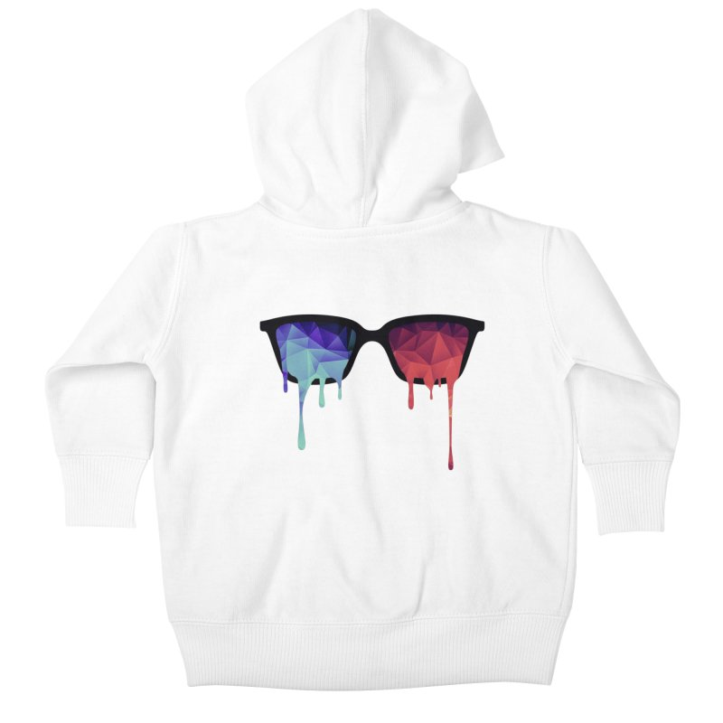 3D Psychedelic / Goa Meditation Glasses Kids Baby Zip-Up Hoody by Badbugs's Artist Shop