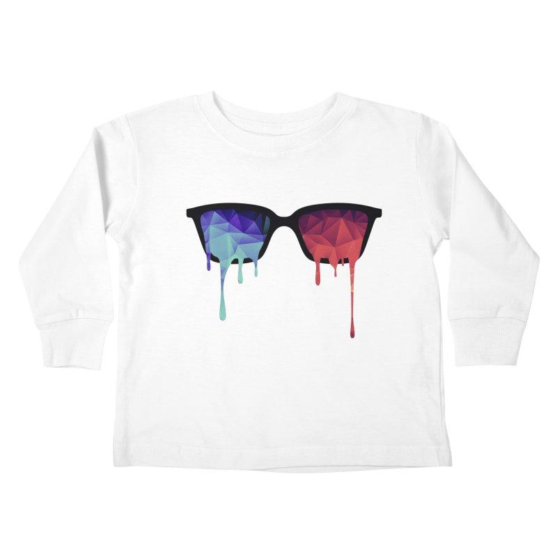 3D Psychedelic / Goa Meditation Glasses Kids Toddler Longsleeve T-Shirt by Badbugs's Artist Shop