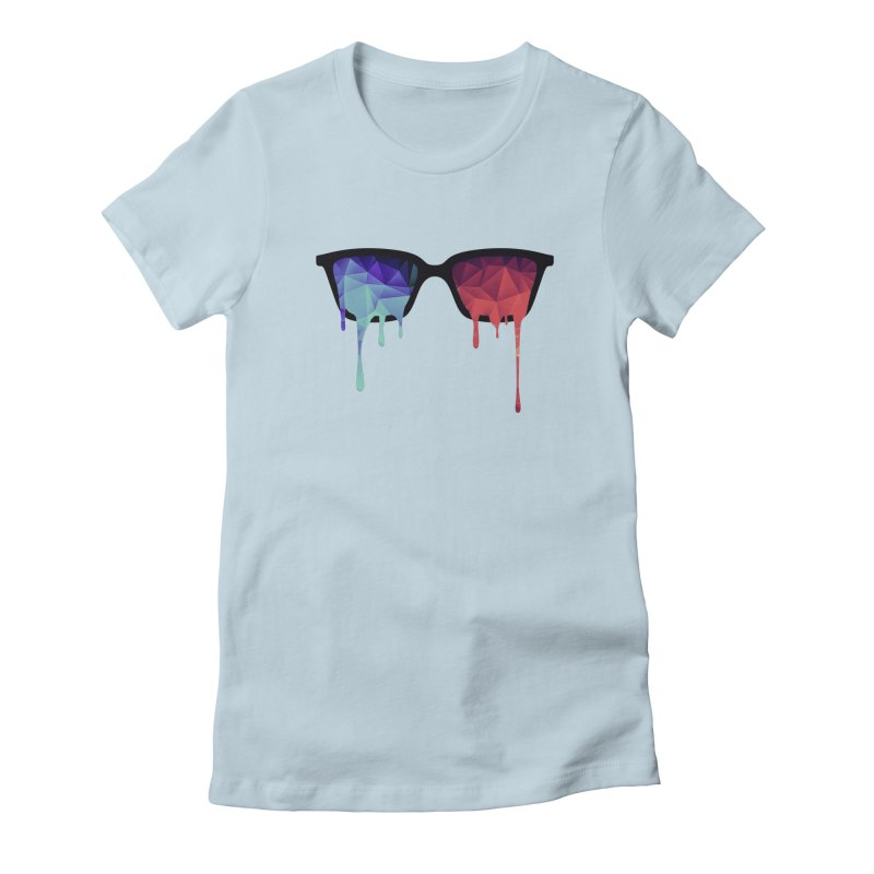 3D Psychedelic / Goa Meditation Glasses Women's Fitted T-Shirt by Badbugs's Artist Shop
