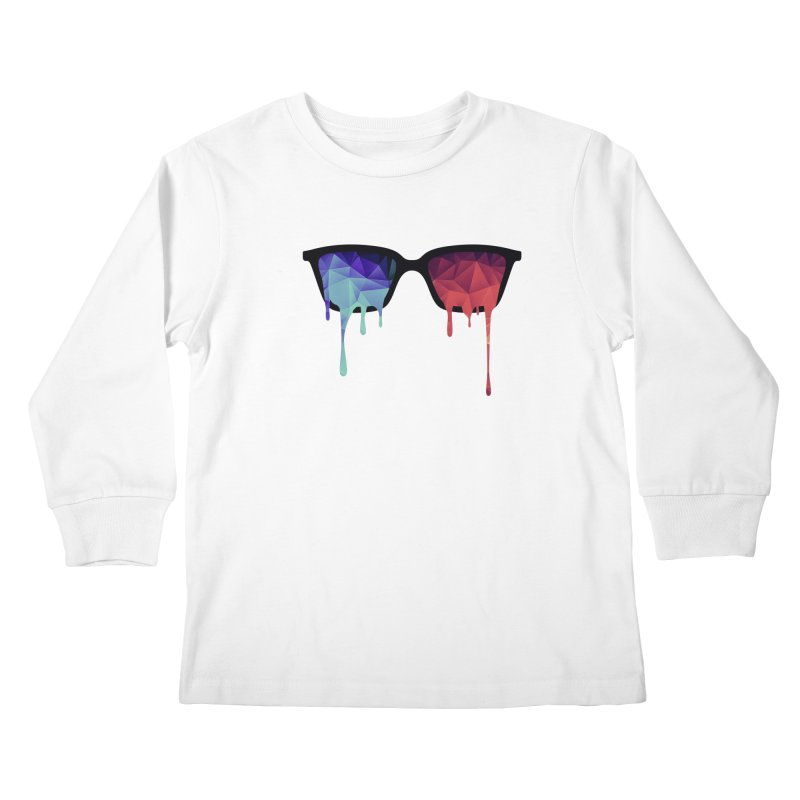 3D Psychedelic / Goa Meditation Glasses Kids Longsleeve T-Shirt by Badbugs's Artist Shop