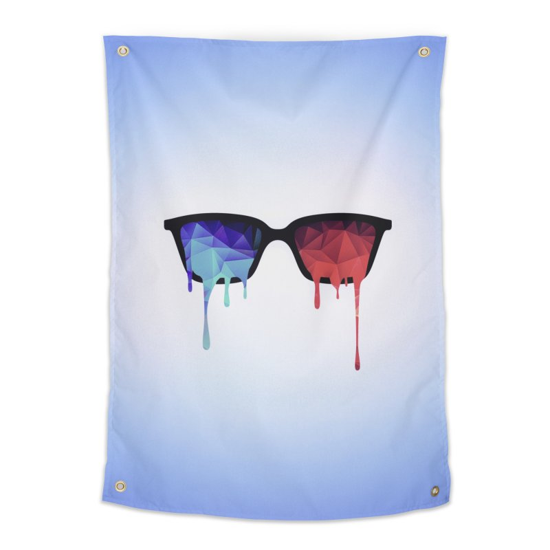3D Psychedelic / Goa Meditation Glasses Home Tapestry by Badbugs's Artist Shop