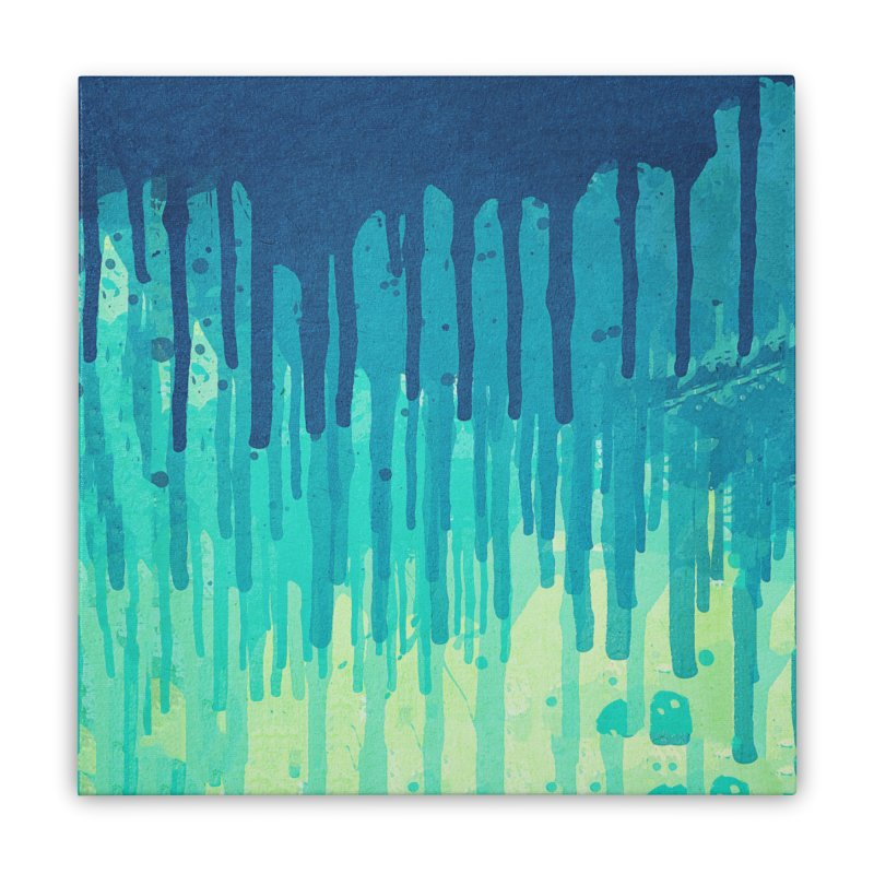 Green Grunge Color Splatter Graffiti Backstreet Wall Background Home Stretched Canvas by Badbugs's Artist Shop