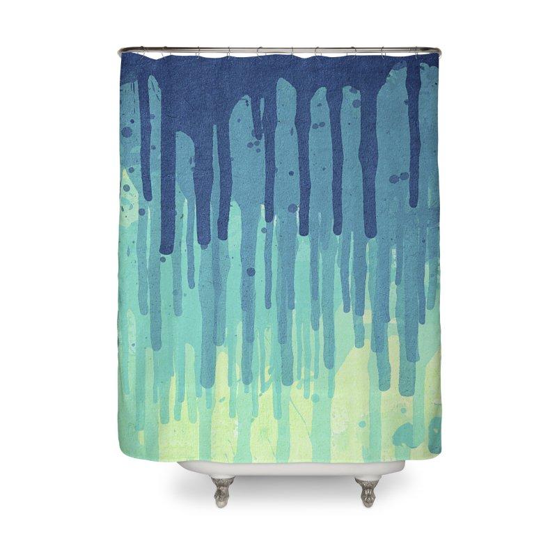 Green Grunge Color Splatter Graffiti Backstreet Wall Background Home Shower Curtain by Badbugs's Artist Shop
