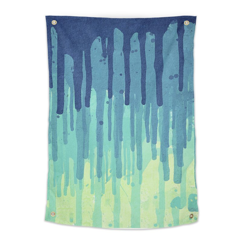Green Grunge Color Splatter Graffiti Backstreet Wall Background Home Tapestry by Badbugs's Artist Shop