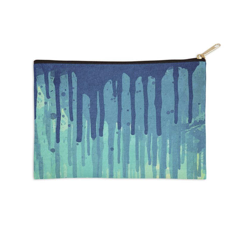 Green Grunge Color Splatter Graffiti Backstreet Wall Background Accessories Zip Pouch by Badbugs's Artist Shop