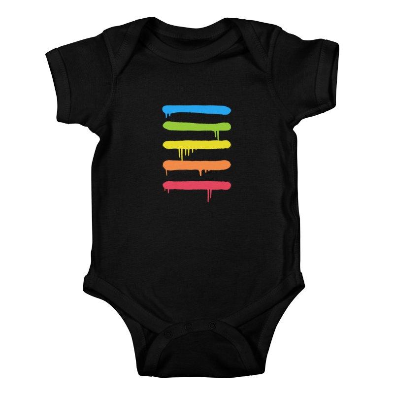 Trendy Cool Graffiti Tag Lines Kids Baby Bodysuit by Badbugs's Artist Shop