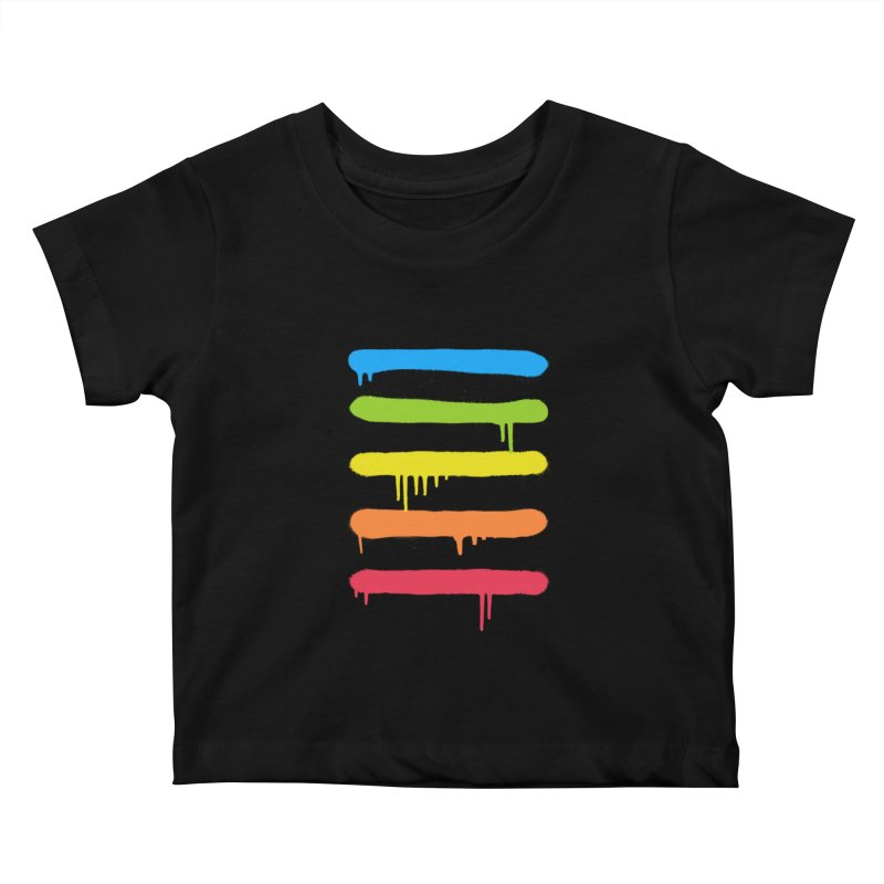 Trendy Cool Graffiti Tag Lines Kids Baby T-Shirt by Badbugs's Artist Shop