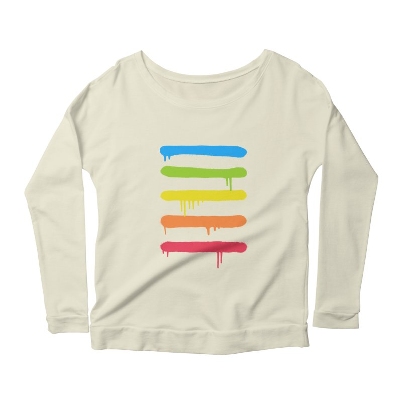 Trendy Cool Graffiti Tag Lines Women's Longsleeve Scoopneck  by Badbugs's Artist Shop
