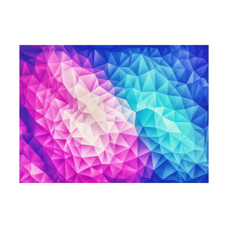 Color Bomb Fruity Fresh | Pink - Ice Blue / Abstract Polygon Crystal Cubism Low Poly Triangle Art Accessories Sticker by Badbugs's Artist Shop