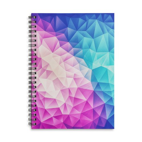 image for Color Bomb Fruity Fresh  | Pink - Ice Blue / Abstract Polygon Crystal Cubism Low Poly Triangle Art