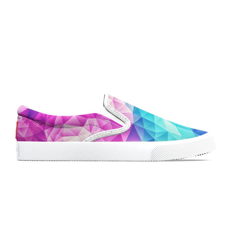 Color Bomb Fruity Fresh | Pink - Ice Blue / Abstract Polygon Crystal Cubism Low Poly Triangle Art Women's Shoes by Badbugs's Artist Shop