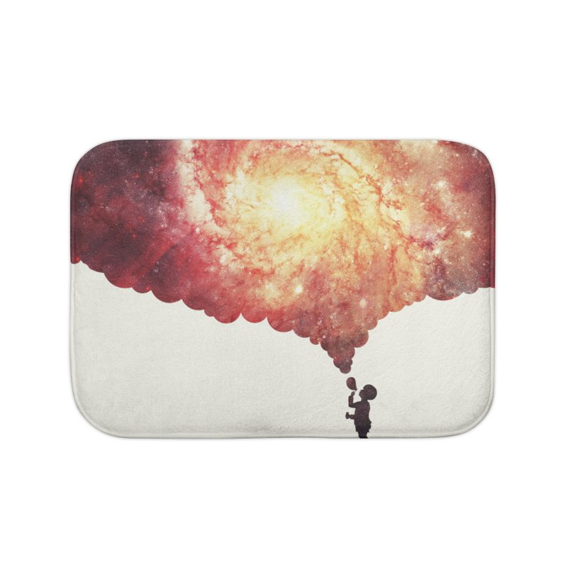 The universe in a soap-bubble! (Awesome Space / Nebula / Galaxy Negative Space Artwork) Home Bath Mat by Badbugs's Artist Shop