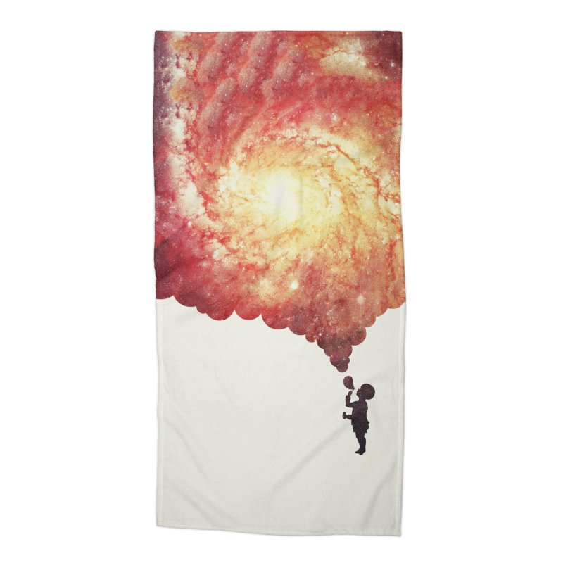 The universe in a soap-bubble! (Awesome Space / Nebula / Galaxy Negative Space Artwork) Accessories Beach Towel by Badbugs's Artist Shop