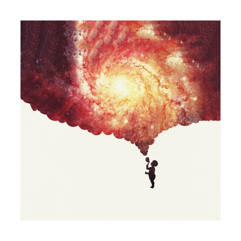 The universe in a soap-bubble! (Awesome Space / Nebula / Galaxy Negative Space Artwork) by Badbugs's Artist Shop