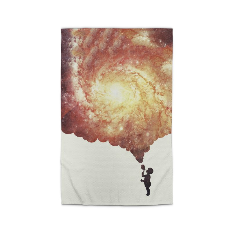 The universe in a soap-bubble! (Awesome Space / Nebula / Galaxy Negative Space Artwork) Home Rug by Badbugs's Artist Shop