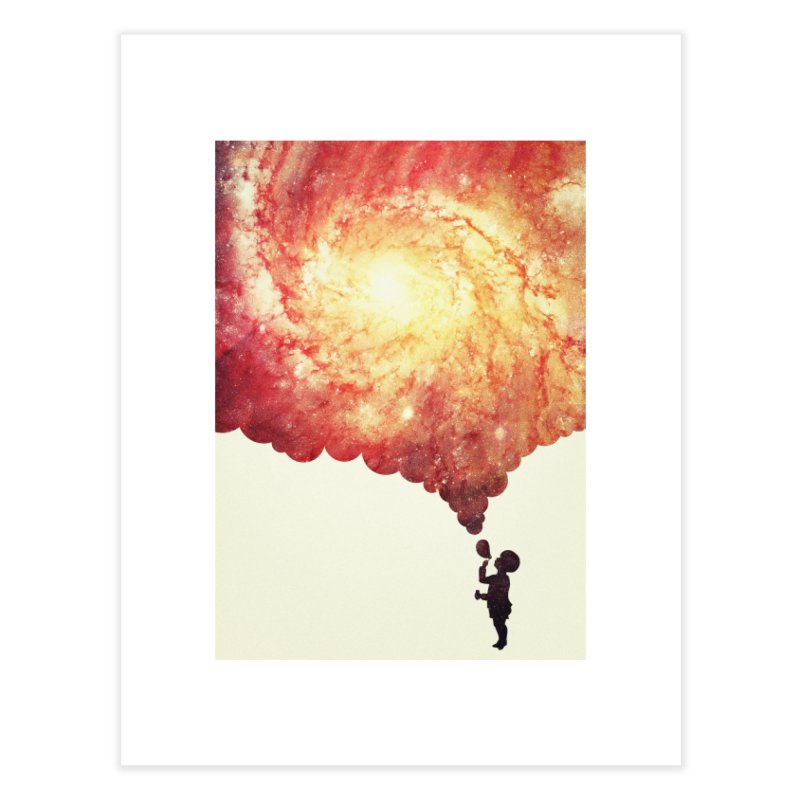 The universe in a soap-bubble! (Awesome Space / Nebula / Galaxy Negative Space Artwork) Home Fine Art Print by Badbugs's Artist Shop