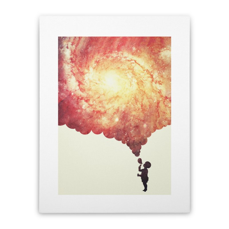 The universe in a soap-bubble! (Awesome Space / Nebula / Galaxy Negative Space Artwork) Home Stretched Canvas by Badbugs's Artist Shop