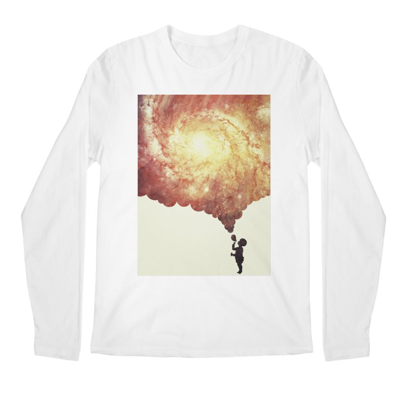 The universe in a soap-bubble! (Awesome Space / Nebula / Galaxy Negative Space Artwork) Men's Longsleeve T-Shirt by Badbugs's Artist Shop